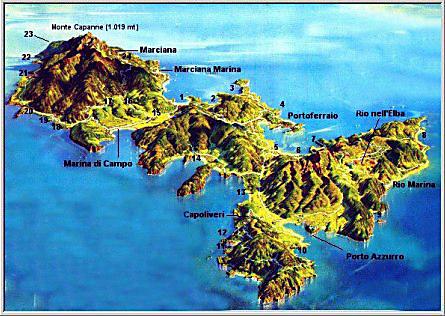 Cartina Elba Isola.Cartina Morfologica E Stradale Dell Isola D Elba Elba Explorer